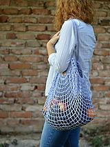 Nákupné tašky - Sieťovka - levanduľová - 9815177_
