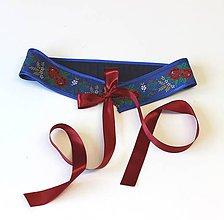 Opasky - Opasok folklórny modrý - 9815074_