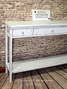Nábytok - Konzolový stolík 3 šuflíkový - 9815538_