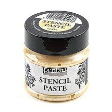 Farby-laky - Šablónovacia pasta, perleťová, 50 ml, Pentart  (vanilková) - 9815238_