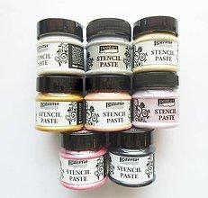 Farby-laky - Šablónovacia pasta, perleťová, 50 ml, Pentart - 9816293_