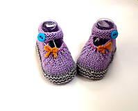 Topánočky - Sandálky s tyrkysovým gombíkom (merino) - 9816895_
