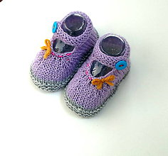 Topánočky - Sandálky s tyrkysovým gombíkom (merino) - 9816837_
