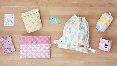 Detské tašky - Detský vak uťahovací - nanuky a zmrzlina - 9816040_