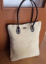háčkovaná prírodná taška