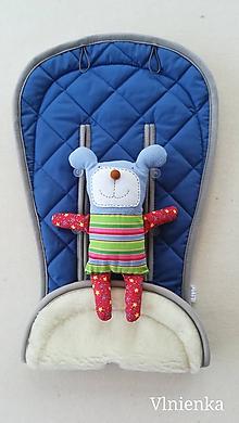 Textil - MERINO podložka do kočíka BUGABOO Bee / Buffalo/ Cameleon/ Donkey/ Joolz 100% WOOL Seat Liner ROYAL blue kráľovská modrá - 9815942_