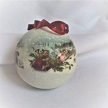 Dekorácie - Vianočná guľa - 9817259_