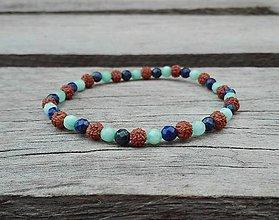 Náramky - Náramok - jadeit, lapis lazuli, rudraksha - 9815158_