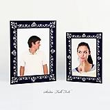 Rámiky - Maľovaný rámček - Čipka - 9817490_