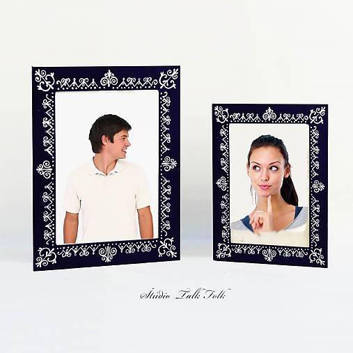Maľovaný rámček - Čipka