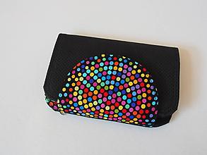 Peňaženky - Peňaženka Anita drobné farebné bodky - 9815365_