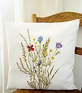 Úžitkový textil - Vankúš - zakvitnutá lúka - 9815363_