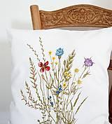 Úžitkový textil - Vankúš - zakvitnutá lúka - 9815369_