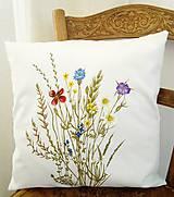Úžitkový textil - Vankúš - zakvitnutá lúka - 9815370_