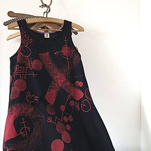 Šaty - PONĚKUD PRAŠTĚNÉ - šaty modrotiskové - 9818007_