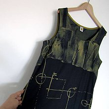 Šaty - OTISKY - šaty modrotiskové - 9818038_