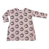 Detské šaty oversize -  Apples pink