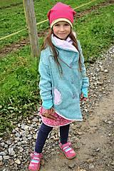 Detské oblečenie - Detský kardigan/kabátik dAdKa - tyrkys - 9815938_