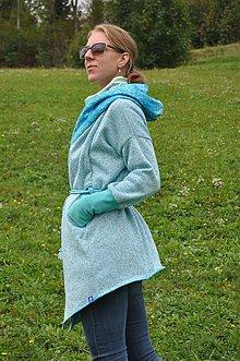 Kabáty - Oversize Kardigan/kabátik dAdKa - tyrkys - 9815648_