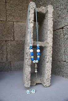 Sady šperkov - Ručne maľovaný set (náhrdelník & náušnice)
