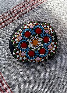 Dekorácie - Z ľudovího fijoka... - Na kameni maľované (Modrá) - 9815511_
