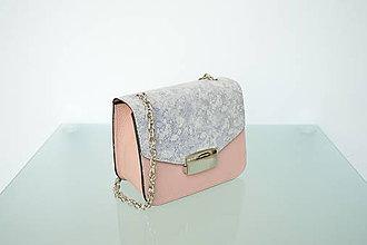 Kabelky - Kožená kabelka KATI mini ružová - 9815789_