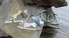 Kľúčenky - Kľúčenka pre pár puzzle srdce - 9815132_