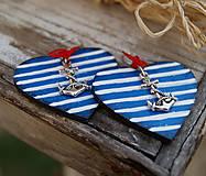 Náušnice - Ľúbim námorníka 2 - 9815335_