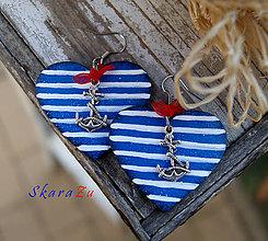 Náušnice - Ľúbim námorníka 2 - 9815336_