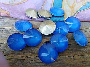 Komponenty - Sklenené rivolky 12 mm (Modrá) - 9817677_