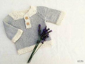 Detské oblečenie - Bavlnený svetrík pre najmenších - 9816674_