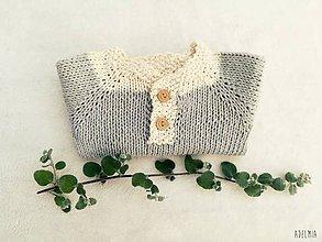 Detské oblečenie - Bavlnený svetrík pre najmenších - 9816677_