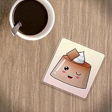 Pomôcky - Podšálka žmurkajúci puding(želé) - čokoláda - 9816921_