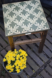 Nábytok - Vidiecky zelený stolík - 9817829_