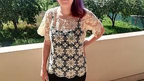 Tričká - Háčkované tričko. - 9818643_