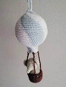 Detské doplnky - Sloník v balóne (Fialová) - 9820086_