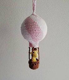 Detské doplnky - Žirafka v balóne (Fialová) - 9820140_