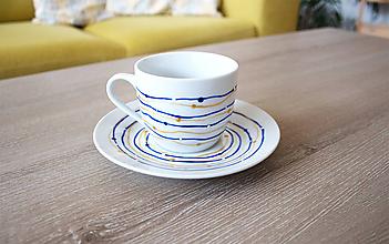 """Nádoby - """"Modrá"""" šálka na kávu (možné namaľovať viacero ako set) - 9819975_"""