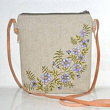 Kabelky - Plátená kabelka-crossbody-ručne maľovaná - 9820276_