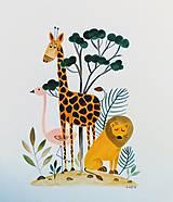 - Zoo ilustrácia / originál maľba  - 9818253_