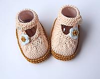 Topánočky - Sandálky marhuľkové (bavlna) - 9819288_