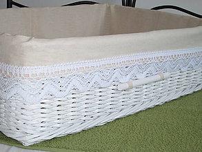 Košíky - KOŠÍK - Biely vo vidieckom štýle - 9819362_