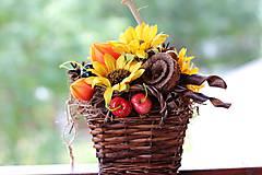 Dekorácie - Jesenný aranžmán - 9819270_