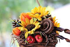 Dekorácie - Jesenný aranžmán - 9819277_