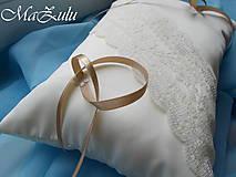 Prstene - svadobný vankúšik pod krížik III. - 9819221_