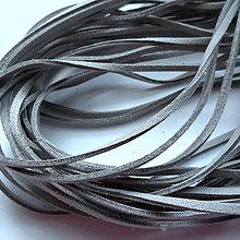 Galantéria - Remienok imit.kože 3mm-1m (šedá) - 9820702_