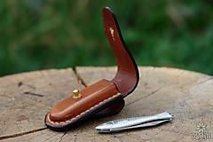 Nože - Kožené puzdro na nožík Rybička - 9819676_