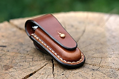 Nože - Kožené puzdro na nožík Rybička - 9819677_