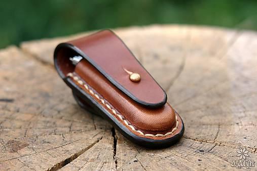 Kožené puzdro na nožík Rybička
