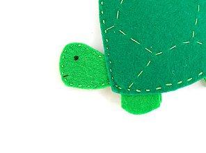 Hračky - Bábky na prsty: zvieratá (Korytnačka) - 9819259_